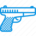 gun, handgun, military, pistol, war, weapon icon
