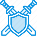 defend, defense, military, shield, swords icon