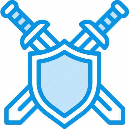 defend, defense, military, shield, swords icon