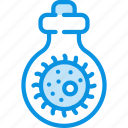 bacteria, bacteriological, mass, tube, weapon icon