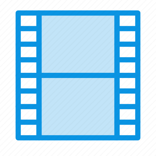 film, media, strip icon