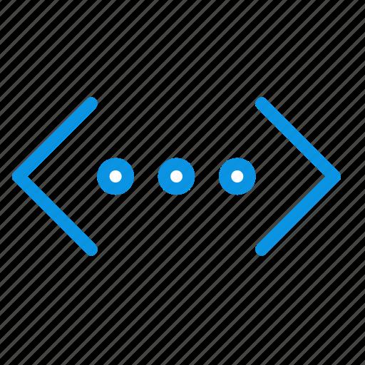 brackets, code, html icon