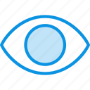 eye, view, views, watch icon