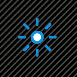 brightness, low, small, sun icon