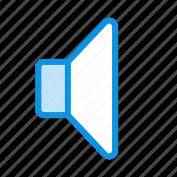 big, low, sound, volume icon