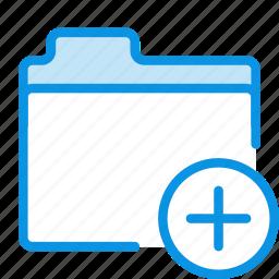 add, files, folder, storage icon