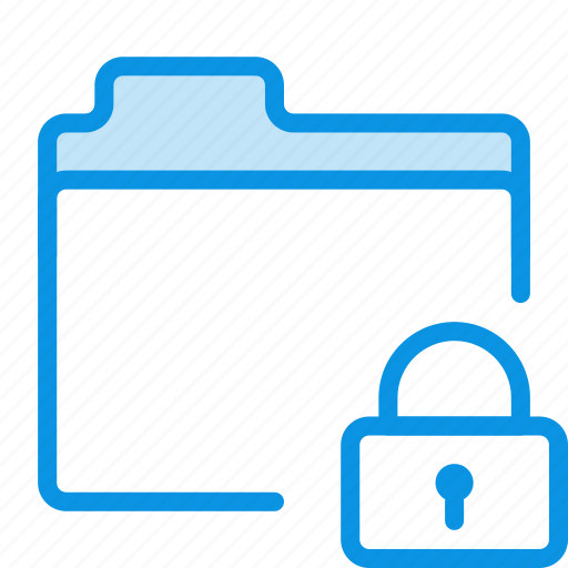 files, folder, lock, private, storage icon