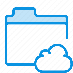 cloud, files, folder, storage icon