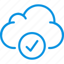 aprove, check, cloud, data, storage icon