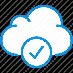 aprove, check, cloud, data, storage icon