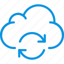 cloud, data, sync icon