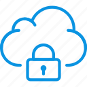 cloud, data, lock icon