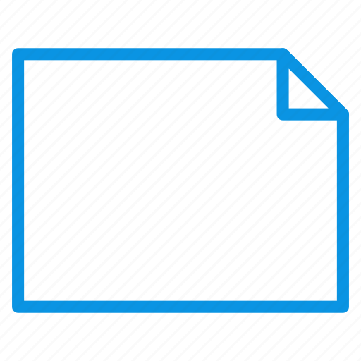 document, file, horizontal, landscape, page, paper, sheet icon