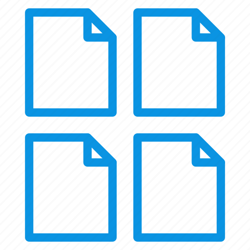 document, file, multiple, page, paper, sheet icon