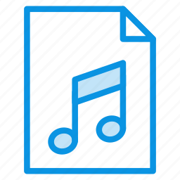 audio, document, file, music, page, paper, sheet icon