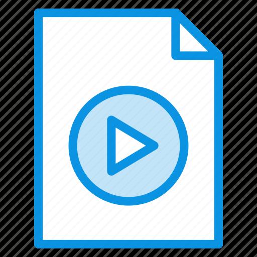 document, file, video icon