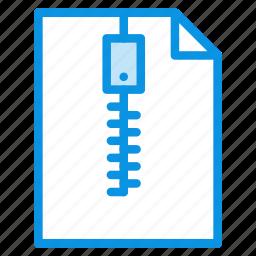 archive, document, zip icon