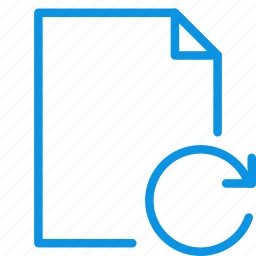 document, file, page, paper, refresh, reload, sheet icon