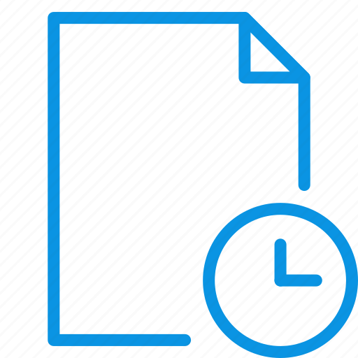 date, document, file, history, page, paper, time icon