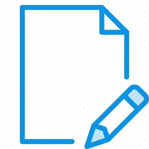 document, edit, file, page, paper, sheet icon