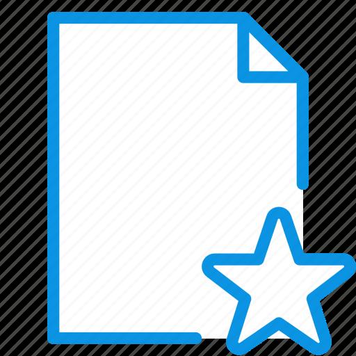 document, favorite, star icon
