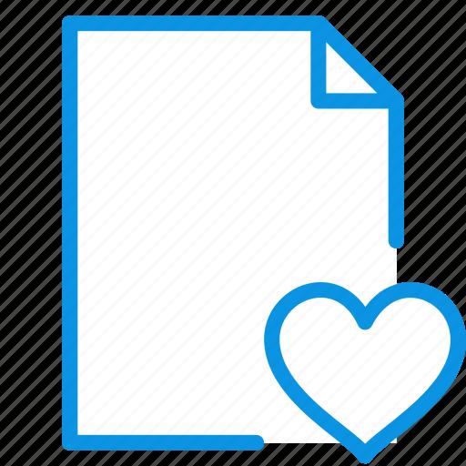 document, file, like icon