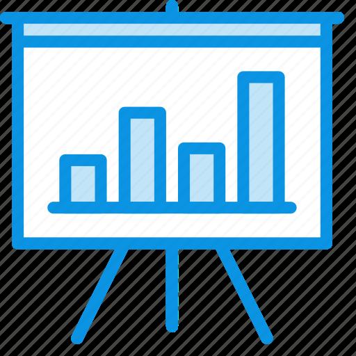 analytics, board, chart, deck, presentation, promo, statistics icon