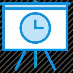 board, deck, delay, history, presentation, promo, time icon