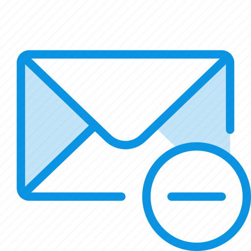email, message, trash icon