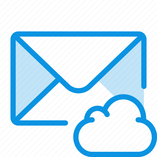 cloud, envelope, mail icon