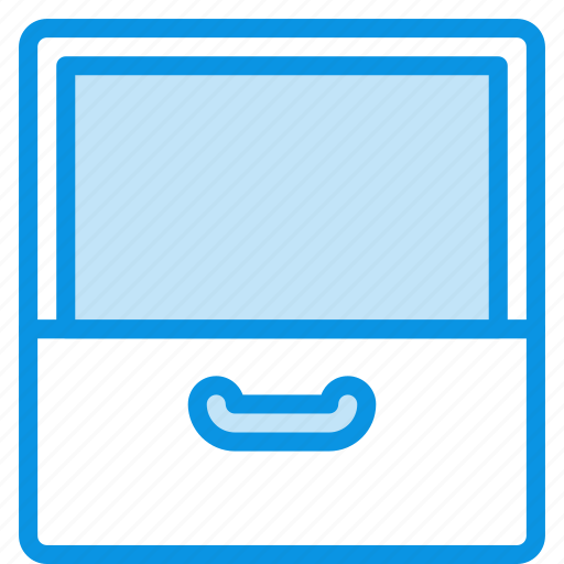 archive, cabinet, documents, drawer, empty, open icon