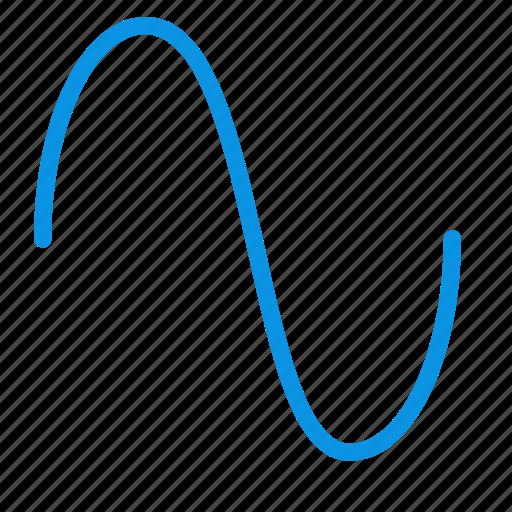 music, sine, wave icon