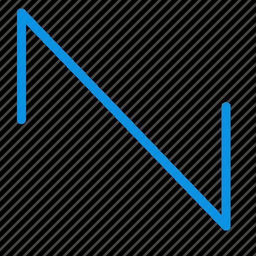 music, sawtooth, wave icon
