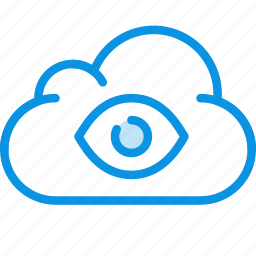 cloud, data, eye, god, of, spy, storage, true icon