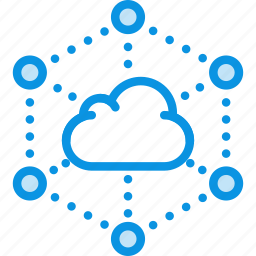 backup, cloud, connections, data, network, servers, storage, transfer icon