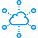 cloud, distribute, network icon