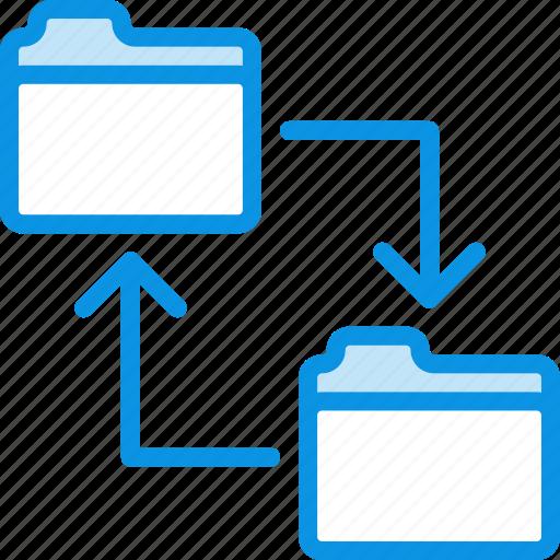 backup, change, copy, data, folder, swap, sync, transfer icon