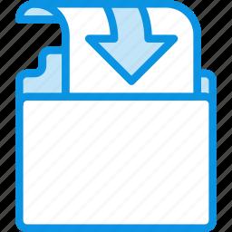 document, file, folder, insert, put icon