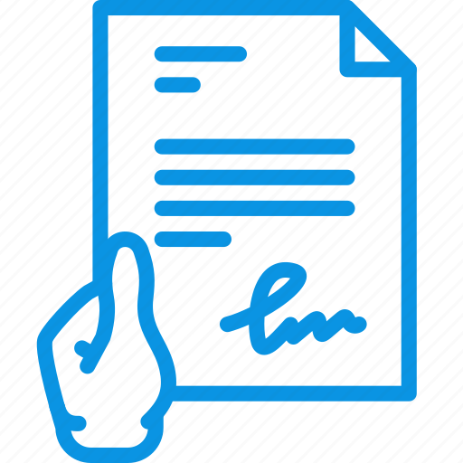 document, file, give, hand, hold, signature, text icon