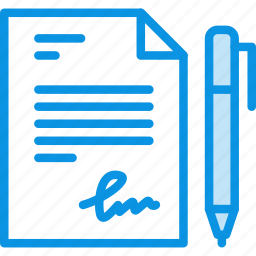 document, file, pen, sign, signature, text, write icon
