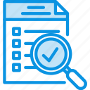 checklist, document, inspect icon