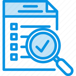 checklist, document, file, inspect, list, magnifying, todo, tool icon