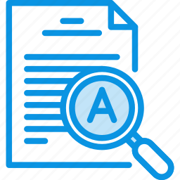 document, file, inspect, magnifying, text, tool, zoom icon