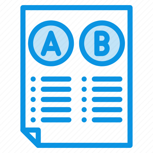 comparison, conversion, document, file, test, testing, usability icon
