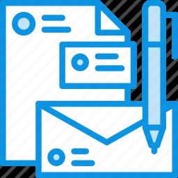 branding, document, envelope, file, identity, logo, pen icon