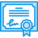 certificate, license icon