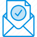 check, email, envelope, mail, message, ok, verification icon