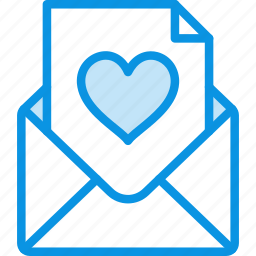 email, envelope, heart, letter, love, mail, message icon