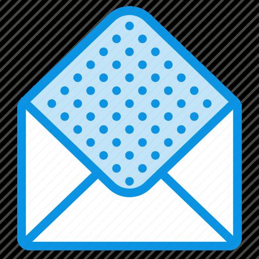 envelope, mail, open icon