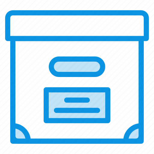 archive, box, documents, files, work icon